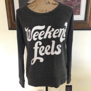 Chaser Sweaters - Chaser Weekend Feels Sweatshirt